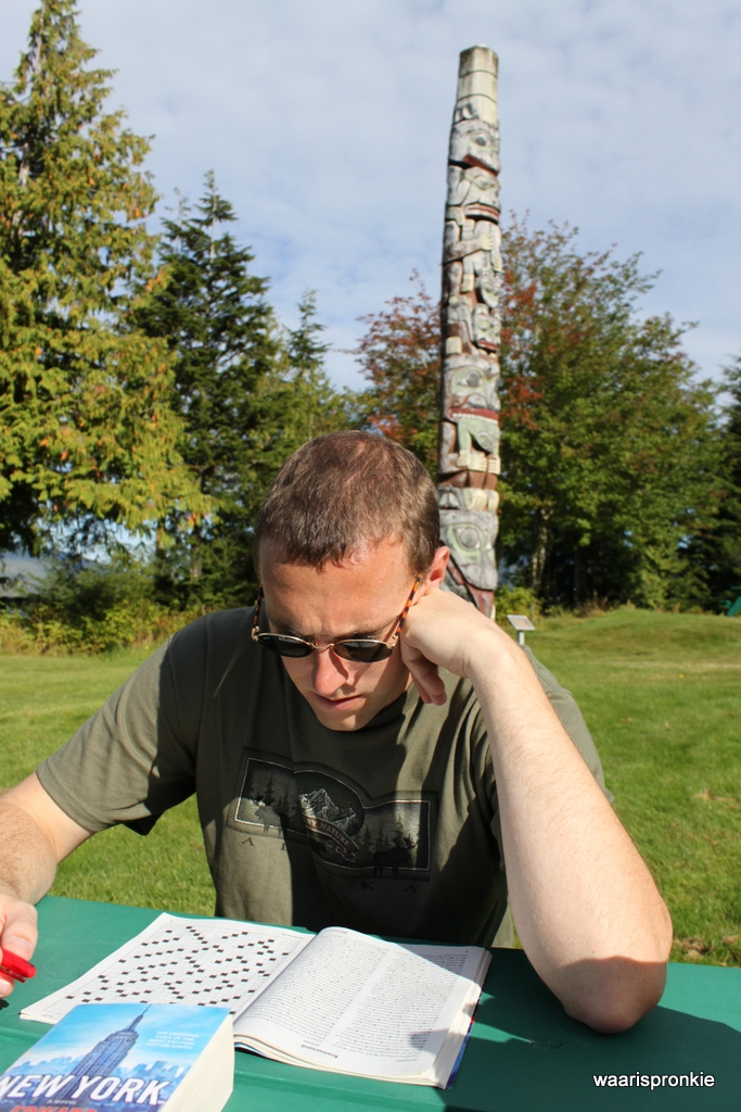 Relaxing near a Totem Pole, Prince Rupert