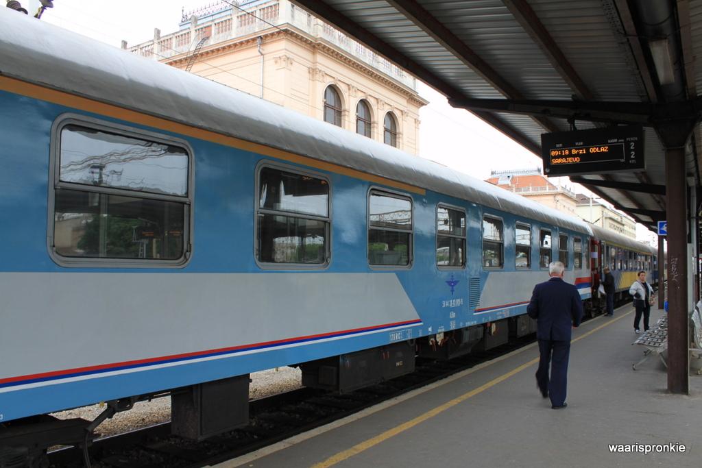 Train from Zagreb to Sarajevo