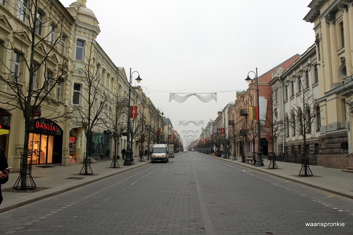 Lithuania, Vilnius, Gediminas Avenue