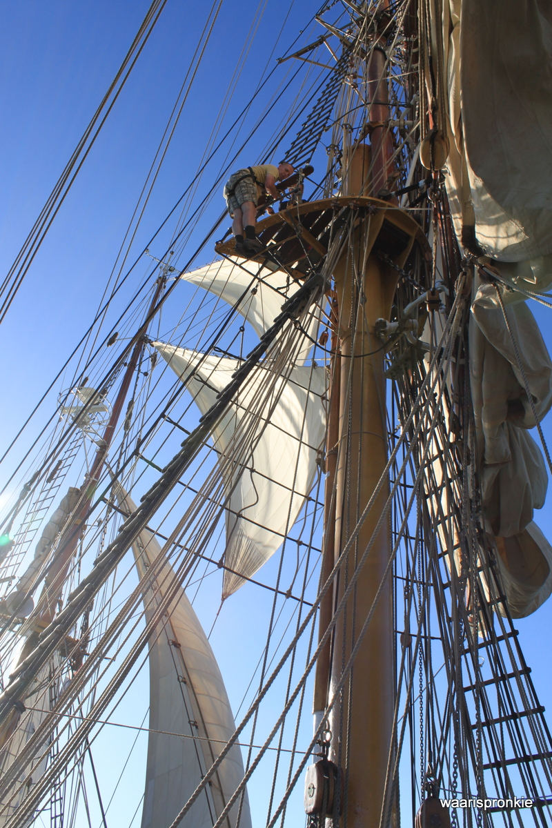 Bark Europa, Climbing the Rigging