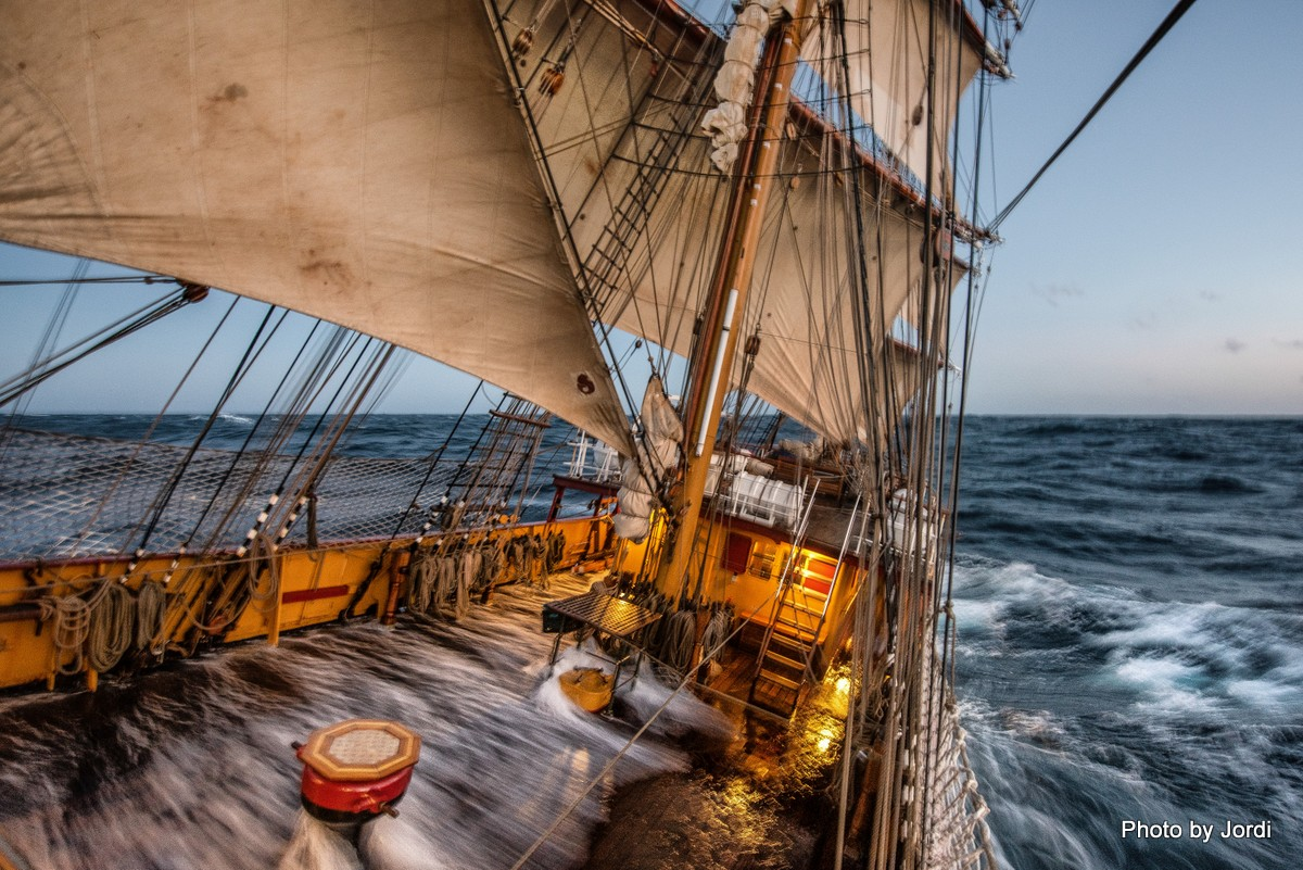 Bark Europa, 40 knots of wind