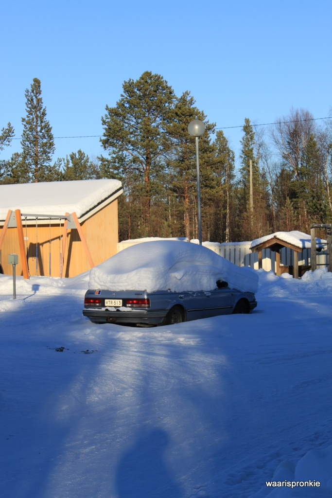 So much snow in Ivalo