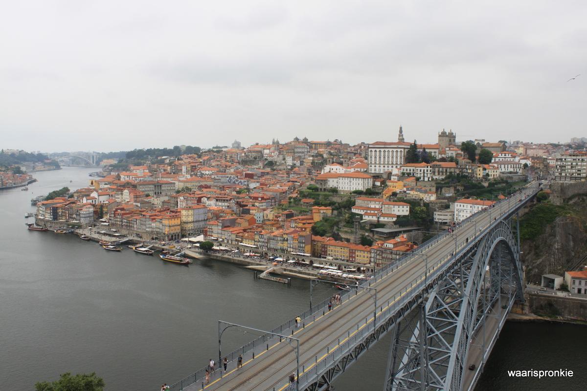 Cais da Riberia (old town) view from Serra do Pilar, Porto
