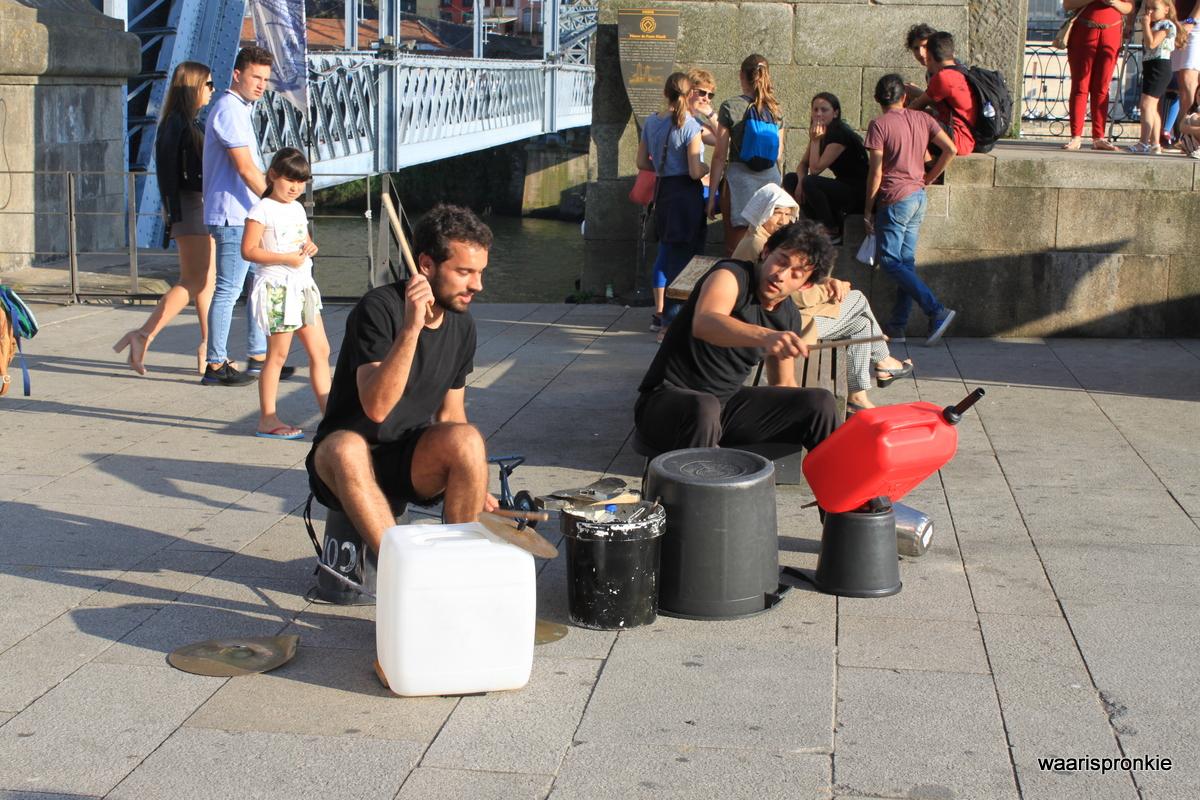 Street Artists near Dom Luis Bridge, Porto