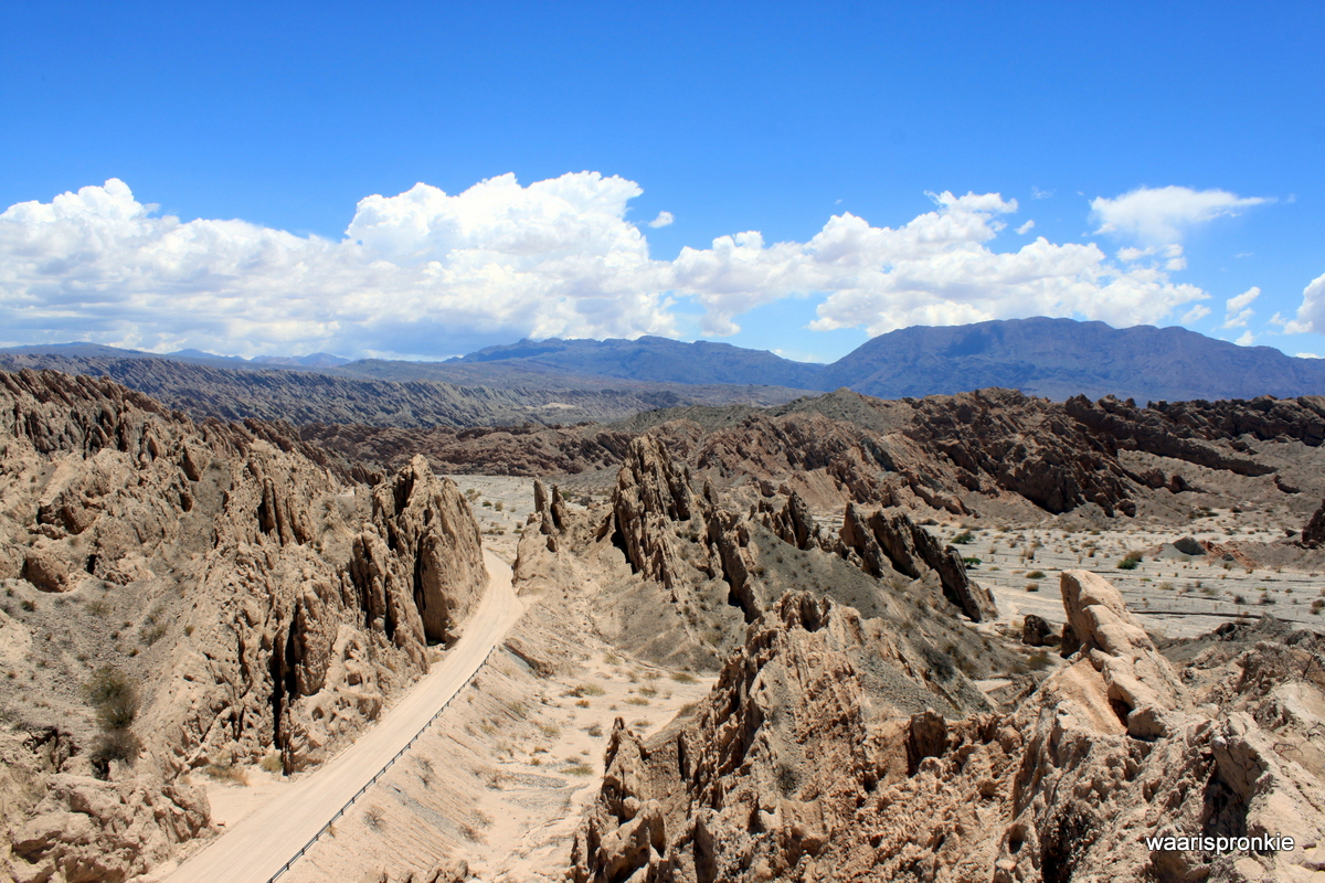 On the way from Cafayate to Molinos, Arrow Head Ravine