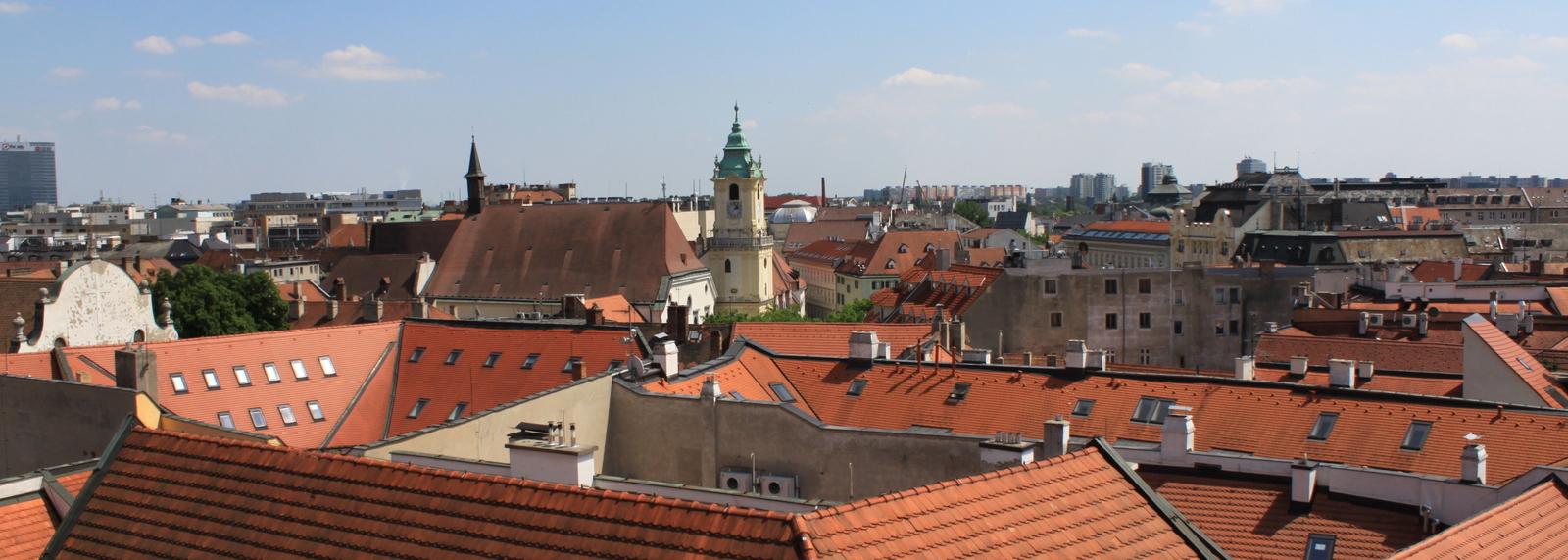 View from  Michalska Brana _Gate_ Bratislava